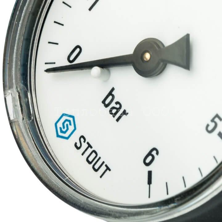 """Манометр аксиальный Ø 50 мм, 0... 6 бар, 1/4"""" Stout"""