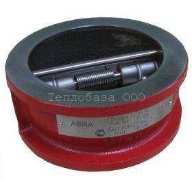 Клапан обратный межфланцевый двустворчатый DN40 PN10/16 ABRA
